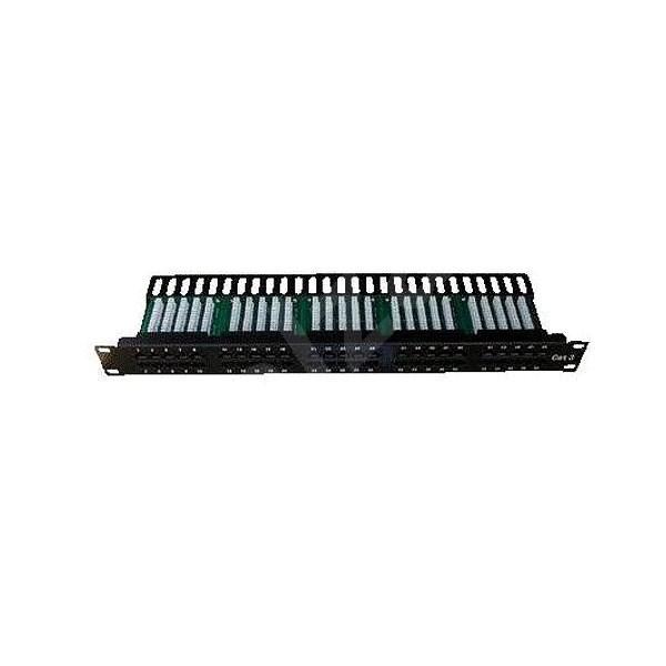 Datacom, ISDN Integrated, 50 portů RJ45 STP kat.3, 1U, černý - Patch panel