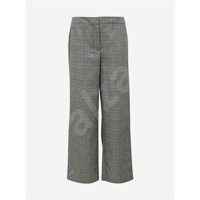 Jacqueline de Yong Šedé kostkované kalhoty Tara XS  - Kalhoty