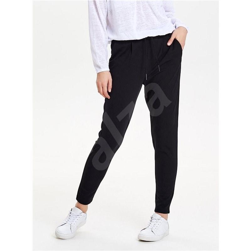 ONLY Černé zkrácené kalhoty s vysokým pasem Poptrash XS  - Kalhoty