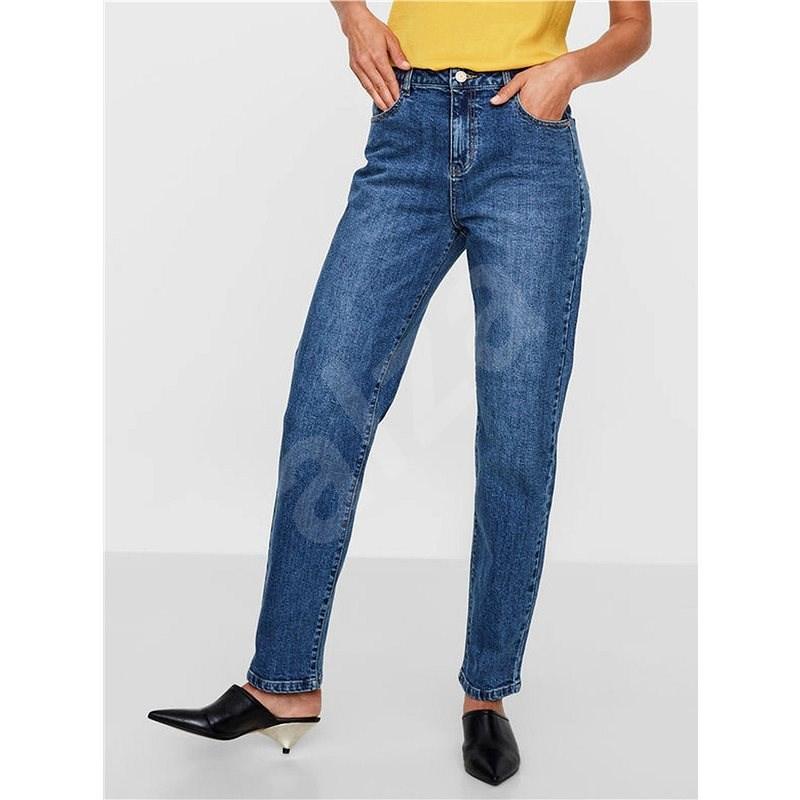 Noisy May Modré straight džíny s vysokým pasem Liv - Džíny
