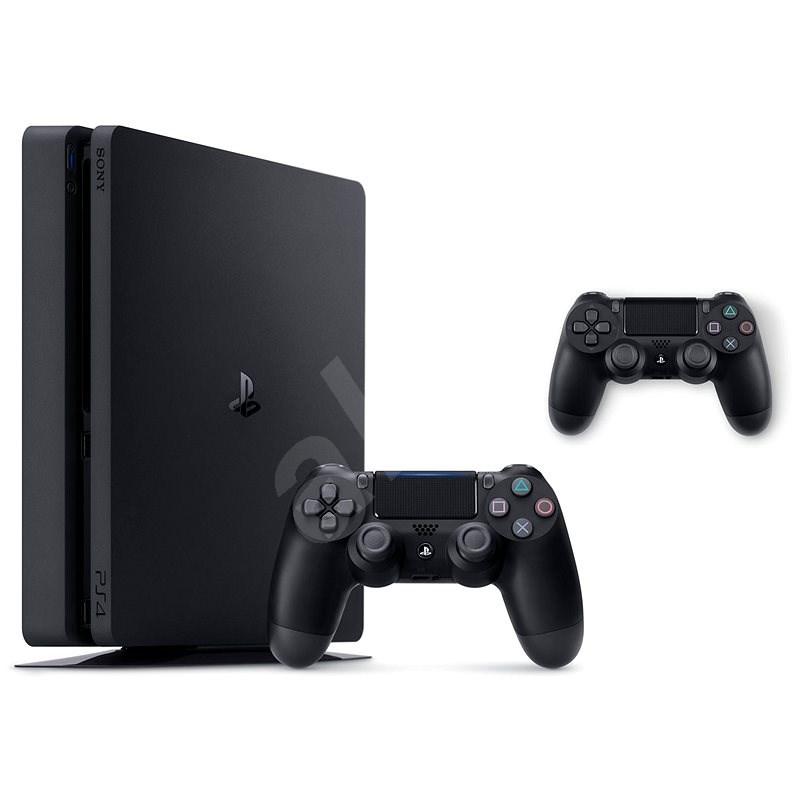 PlayStation 4 Slim 500 GB + 2x DualShock 4 - Herní konzole