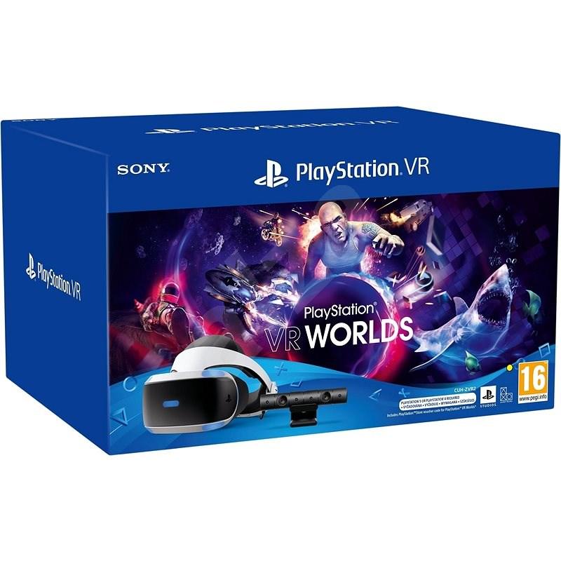 PlayStation VR (PS VR + Kamera + hra VR Worlds + PS5 adaptér) - Brýle pro virtuální realitu