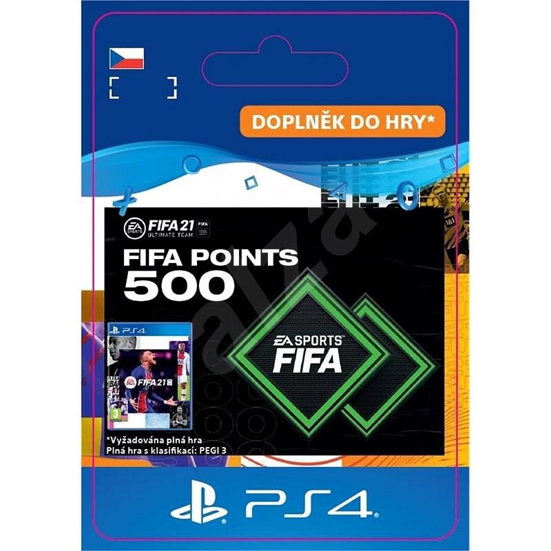 FIFA 21 ULTIMATE TEAM 500 POINTS - PS4 CZ Digital - Herní doplněk