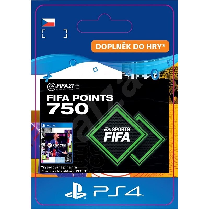 FIFA 21 ULTIMATE TEAM 750 POINTS - PS4 CZ Digital - Herní doplněk