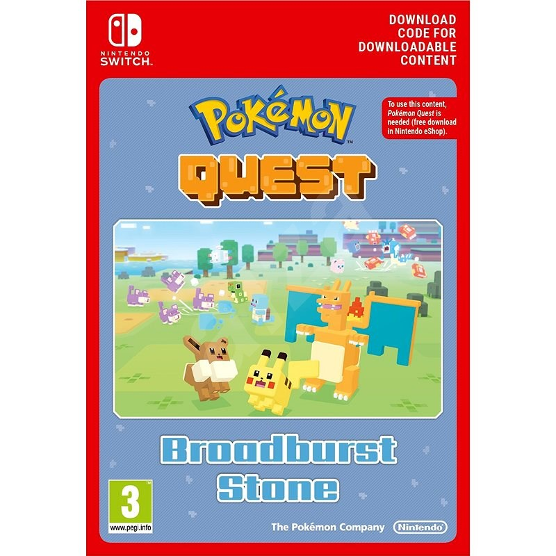 Pokémon Quest Broadburst Stone DLC - Nintendo Switch Digital - Herní doplněk