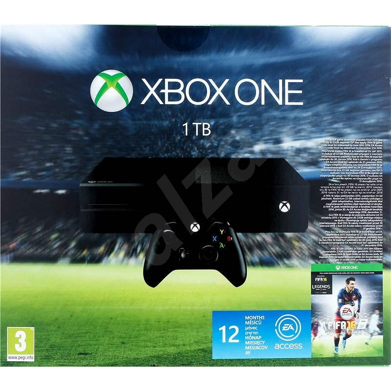 Microsoft Xbox One 1TB + FIFA 16 + 12 měsíců EA Access - Herní konzole
