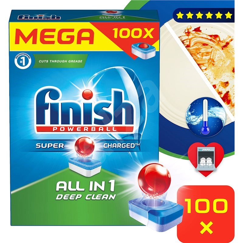 FINISH All-in-1 100 ks - Tablety do myčky