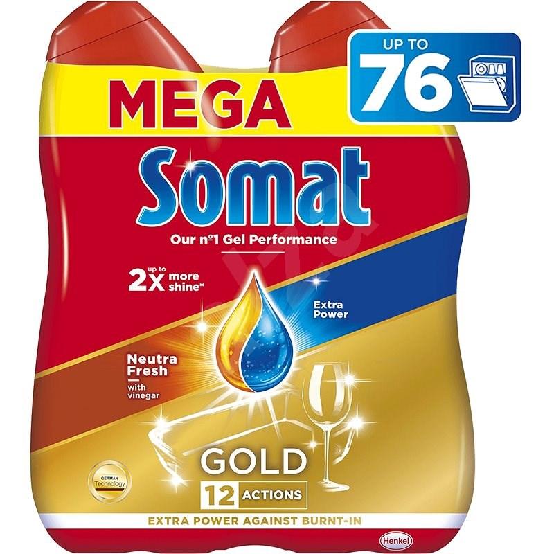 SOMAT Gold Neutra Fresh 2× 684 ml (76 dávek) - Gel do myčky