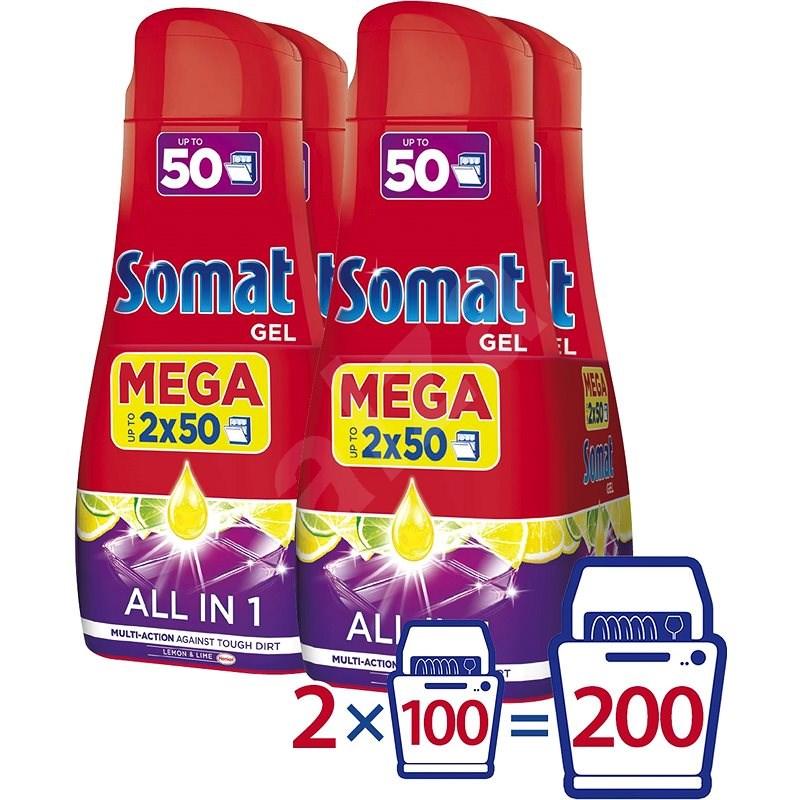 SOMAT All in One Lemon 4 × 900 ml (200 dávek) - Gel do myčky