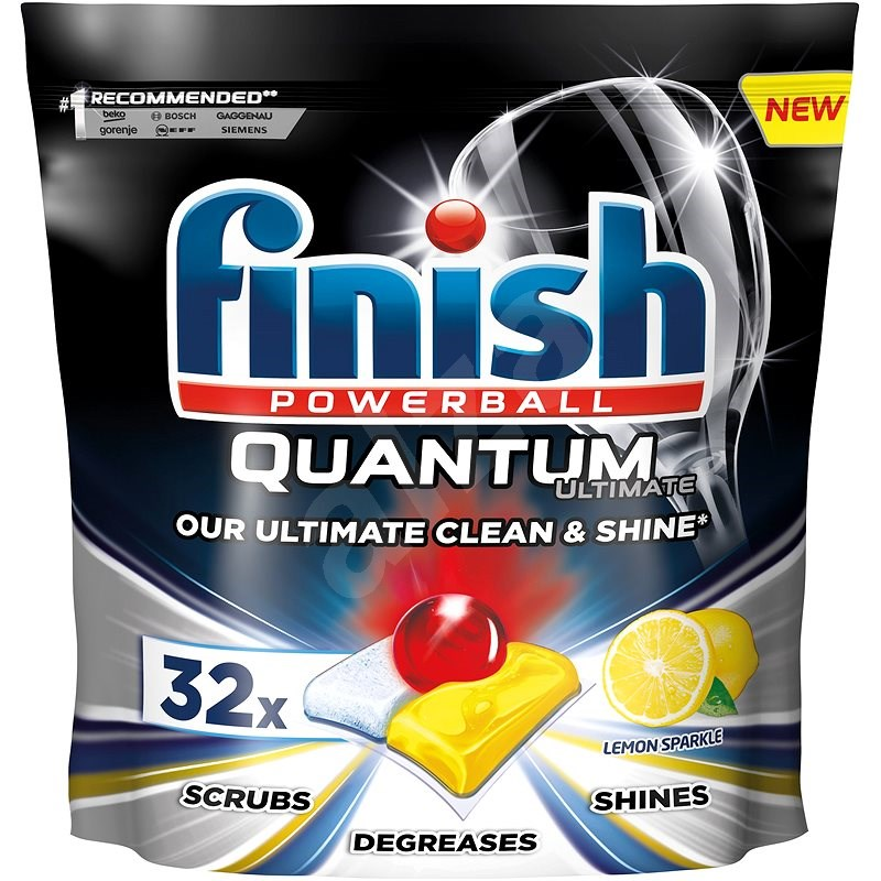 FINISH Quantum Ultimate Lemon Sparkle 32 ks - Tablety do myčky