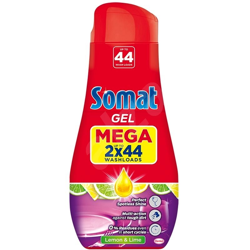 SOMAT All in 1 Lemon Gel do myčky 2x790ml - 88 dávek - Gel do myčky