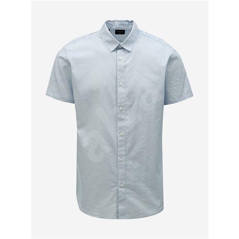 Světle modrá vzorovaná slim fit košile Selected Homme Chris - Košile