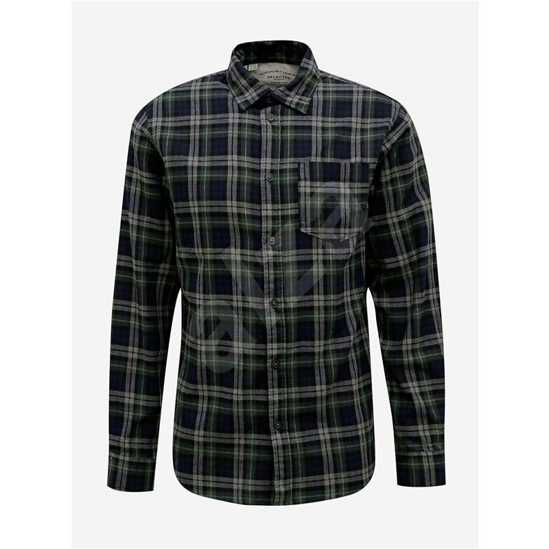 Tmavě zelená kostkovaná košile Selected Homme Matthew S - Košile