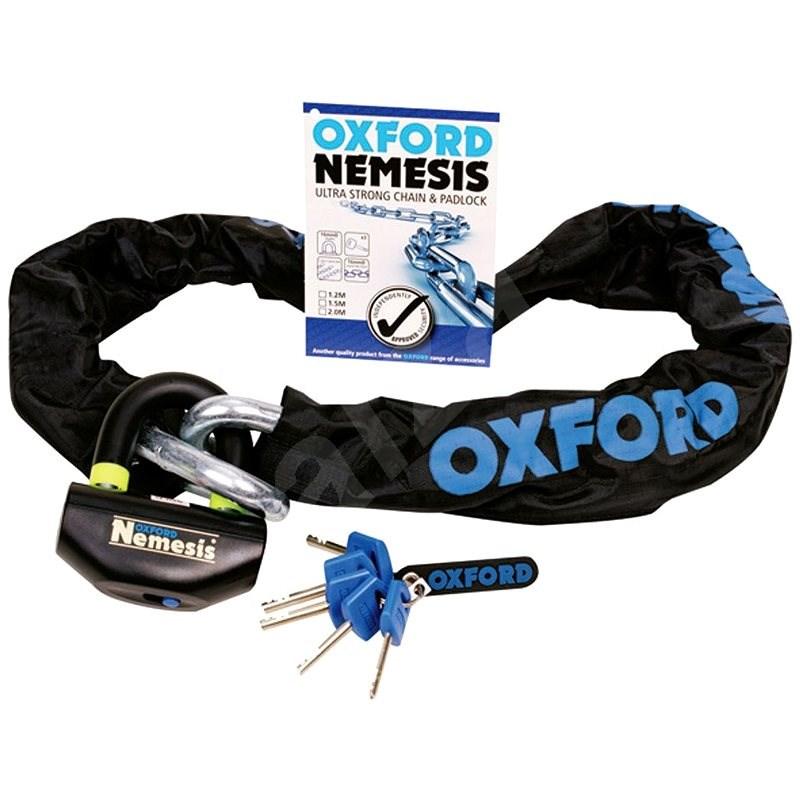 OXFORD Nemesis vč. řetězu 120cm - Zámek na motorku