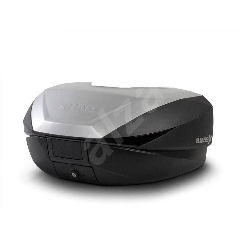 SHAD Vrchní kufr na motorku  SH59X černý s hliníkovým krytem (rozšiřitelný koncept) se zámkem PREMIU - Kufr na motorku