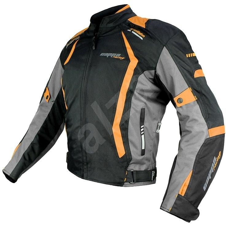 Cappa Racing AREZZO textilní černá/oranžová XL - Bunda na motorku