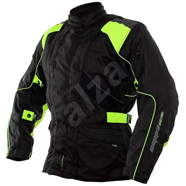 Cappa Racing ROAD textilní černá/zelená S - Bunda na motorku