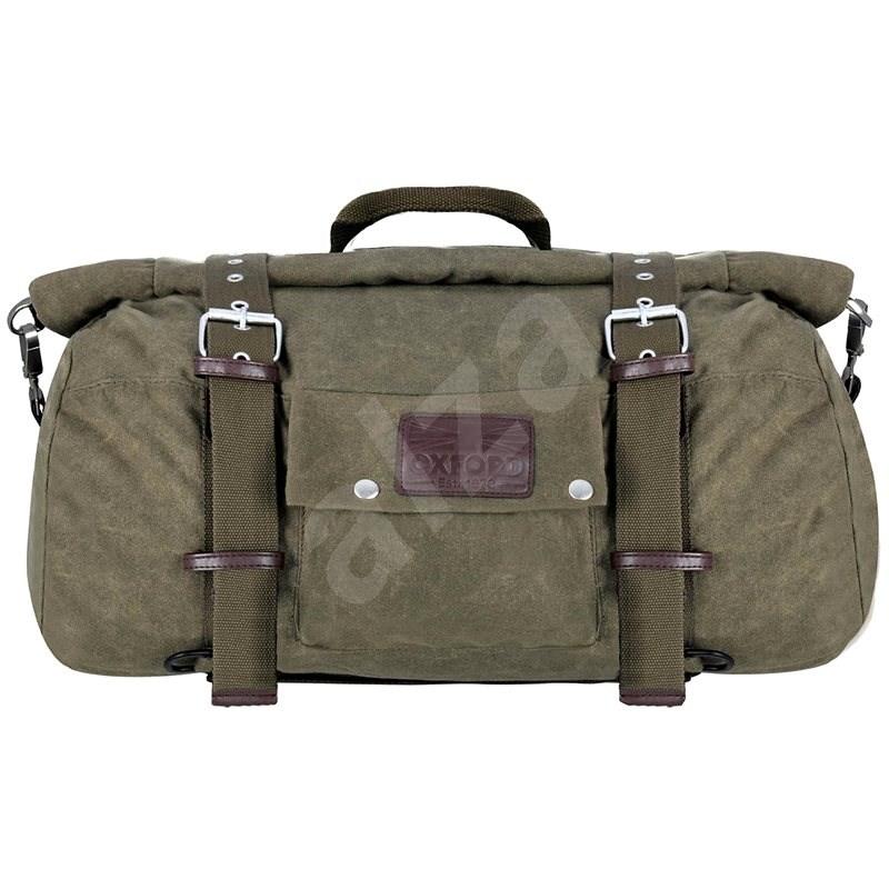 OXFORD Brašna Roll bag Heritage (zelená khaki, objem 30 l) - Brašna na motorku