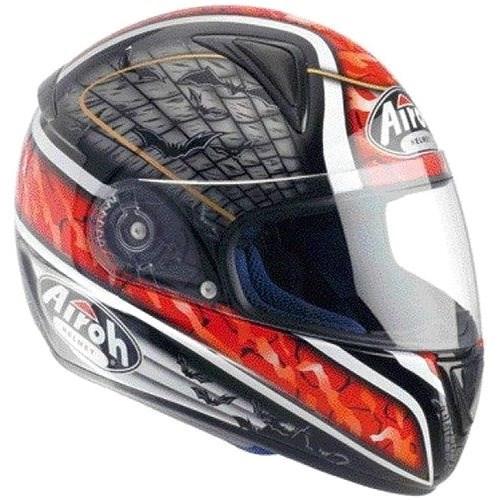 AIROH LEOX BAT LXB55 - integrální červená helma XL - Helma na motorku