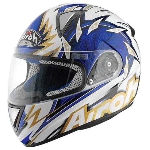 AIROH LEOX RIGHT LXR18 - integrální modrá helma L - Helma na motorku