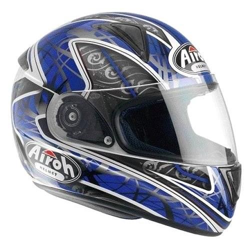 AIROH LEOX TRIBAL LXT18 - integrální modrá helma XL - Helma na motorku