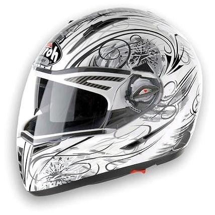 AIROH PIT ONE LOOK PTLO38 - integrální bílá helma XL - Helma na motorku