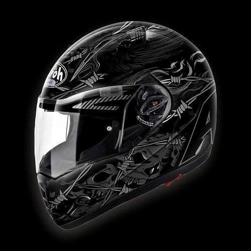 AIROH PIT ONE XR THORNS PTT17 - integrální černá helma L - Helma na motorku