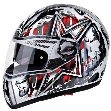 AIROH PIT ONE XR DYNAMIC PTXD55 - integrální červená helma XL - Helma na motorku