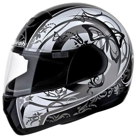 AIROH SPEED FIRE BUTTERFLY SPBT17 - integrální šedá helma L - Helma na motorku