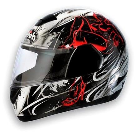 AIROH SPEED FIRE EVIL SPEV17 - integrální červená helma XXL - Helma na motorku