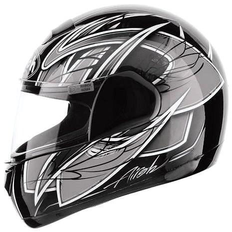 AIROH SPEED FIRE RACE SPRA16 - integrální šedá helma XL - Helma na motorku