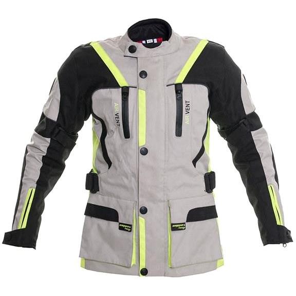 Cappa Racing MELBOURNE textilní šedá/fluo/černá 164 - Bunda na motorku