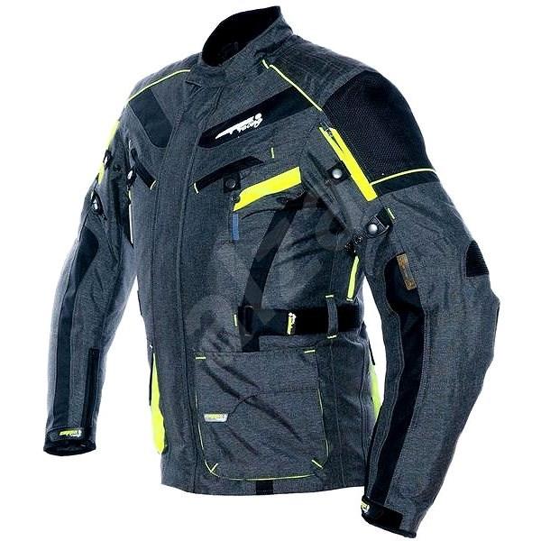 Cappa Racing CHARADE textilní šedá/fluo/černá XXXXL - Bunda na motorku