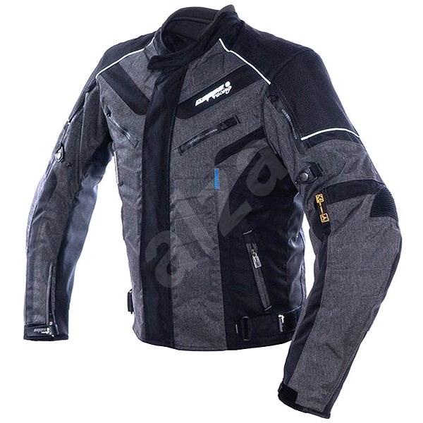 Cappa Racing HATCH textilní šedá/černá XXXXL - Bunda na motorku