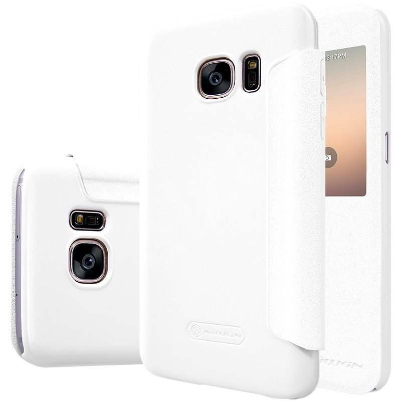 Nillkin Sparkle S-View pro Samsung G930 Galaxy S7 bílé - Pouzdro na mobil