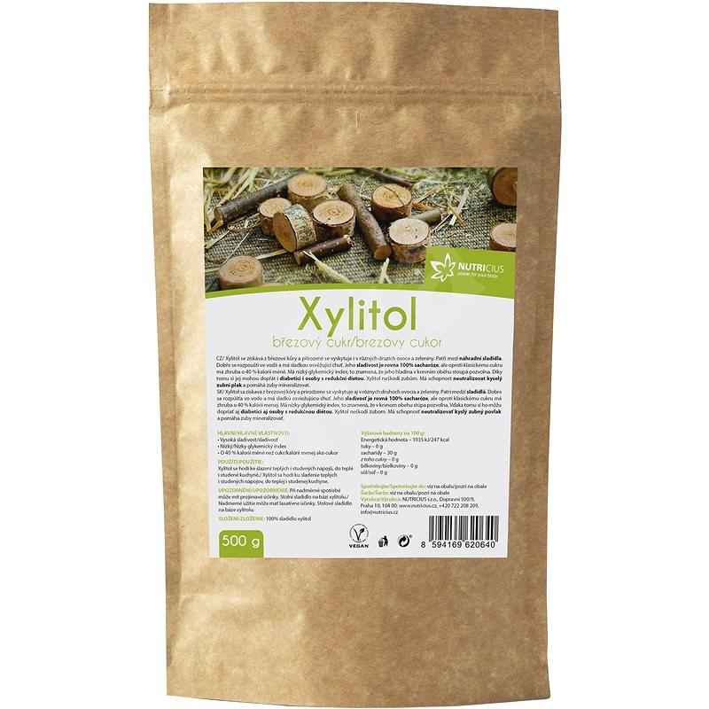 NUTRICIUS Xylitol - Březový cukr 500g - Sladidlo