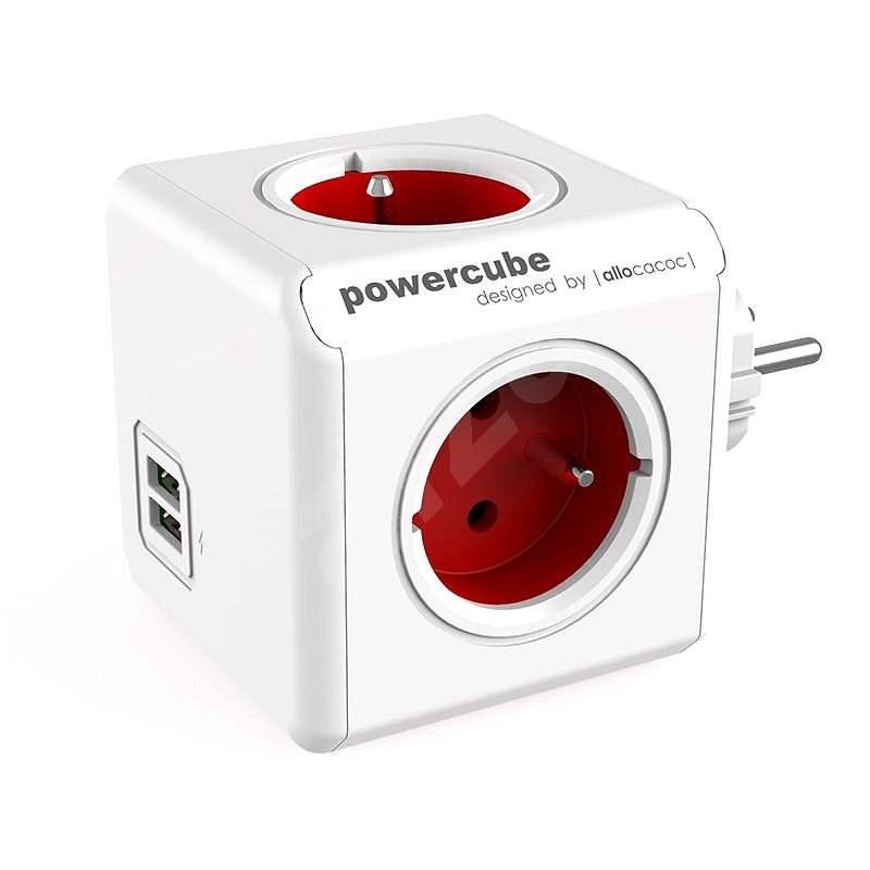 PowerCube Original USB červená - Rozbočovač