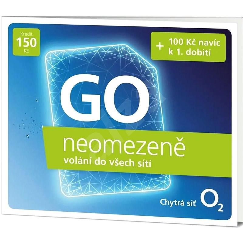 O2 Předplacená karta Go neomezeně - SIM karta