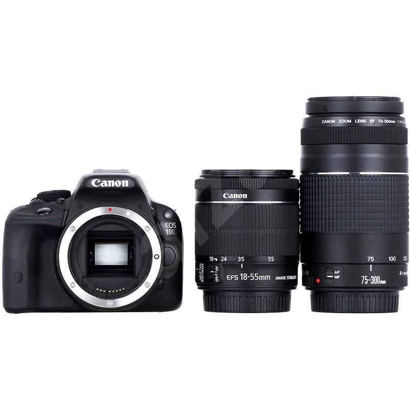 Canon EOS 100D tělo + EF-S 18-55mm IS STM + 75-300mm DC III - Digitální zrcadlovka