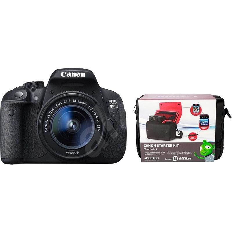 Canon EOS 700D + EF-S 18-55mm IS STM + Canon Starter Kit - Digitální zrcadlovka