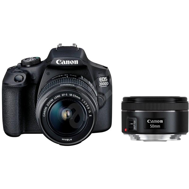 Canon EOS 2000D + EF-S 18-55 mm f/3.5-5.6 IS II + EF 50 mm f/1.8 STM - Digitální fotoaparát