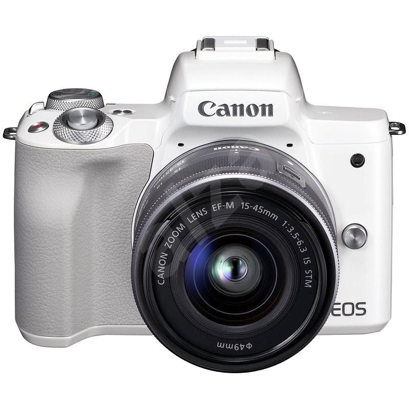Canon EOS M50 bílý + EF-M 15-45 mm f/3.5-6.3 IS STM - Digitální fotoaparát