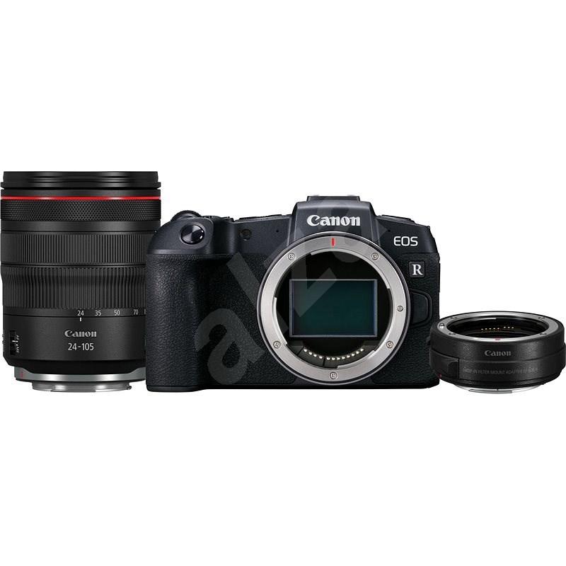 Canon EOS RP černý + RF 24-105mm f/4 L IS USM + EF-EOS R adaptér - Digitální fotoaparát