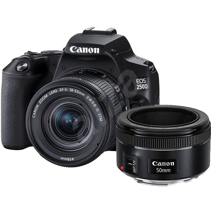 Canon EOS 250D černý + 18-55mm IS STM + 50mm - Digitální fotoaparát
