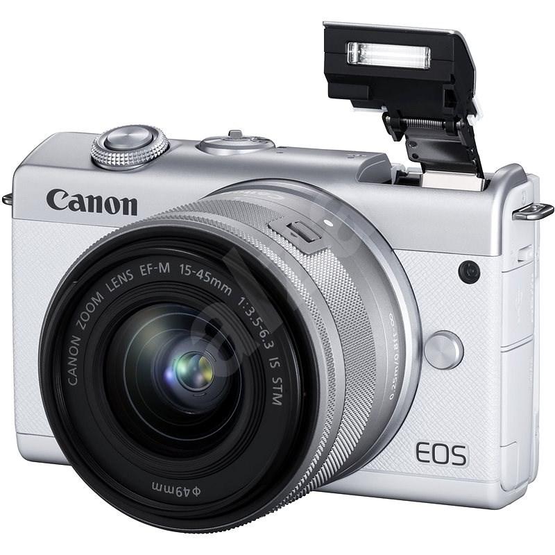Canon EOS M200 + EF-M 15-45mm f/3.5-6.3 IS STM bílá - Digitální fotoaparát