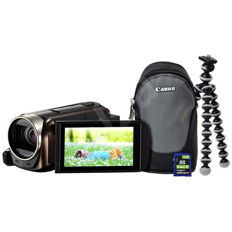 Canon LEGRIA HF R56 hnědá - Premium kit - Digitální kamera