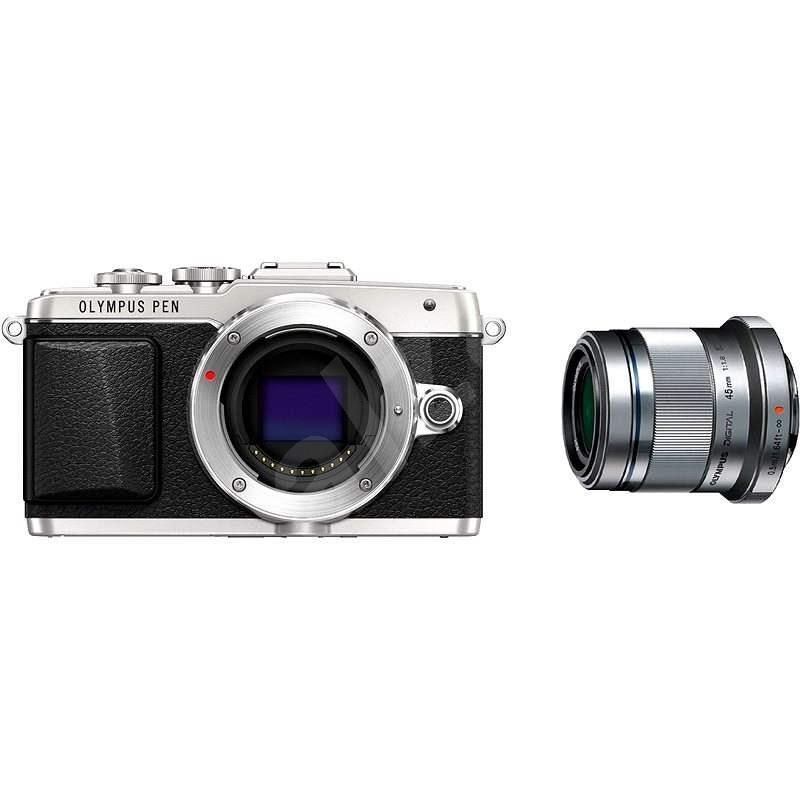 Olympus PEN E-PL7 stříbrný Portrait Kit - portrétní 45mm F1.8 - Digitální fotoaparát