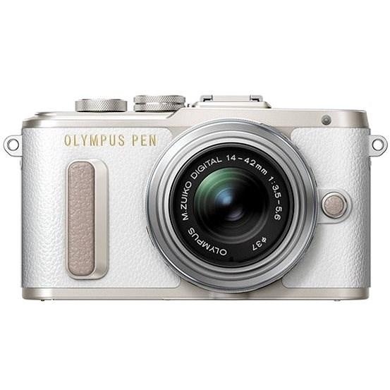 Olympus PEN E-PL8 bílý + objektiv ED 14-42 II R stříbrný - Digitální fotoaparát