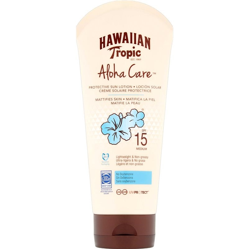 HAWAIIAN TROPIC Aloha Care Mattifies Skin SPF15 180 ml - Opalovací krém