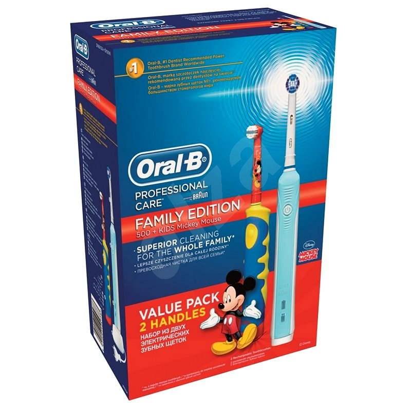 Oral-B Family pack (PC 500 + D10K dobíjecí dětský kartáček) - Elektrický zubní kartáček